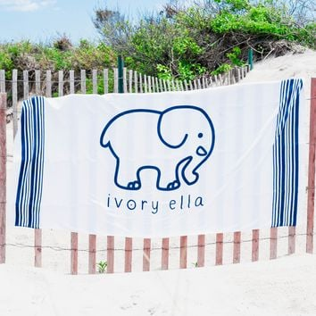 Blue & White Beach Towel