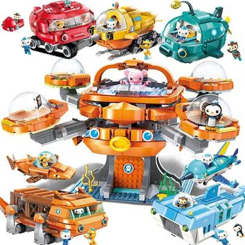 ENLIGHTEN Creator Ideas City Les Octopus Octopod Octonauts Cartoon Building Blocks Model Sets Kids Toy Compatible Legoings Duplo