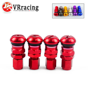 VR RACING-4 RAYS VOLK RACING FORGED ALUMINUM VALVE STEM CAPS WHEELS RIMS UNIVERSAL Blue Silver Black Golden Red Black VR-WR11