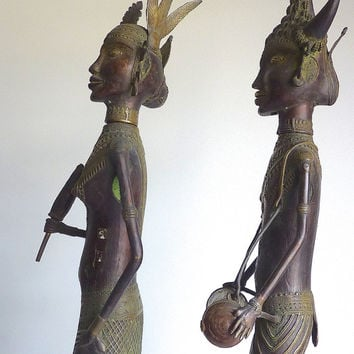 Bronze Tribal Figures // Folk Art // India