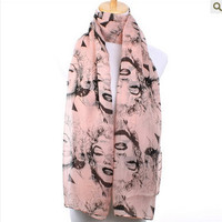 FashionCultureJewelry — Gorgeous Pink Marilyn Monroe Long Soft scarf/ Shawl