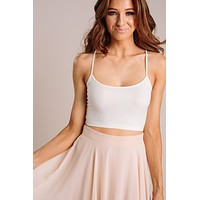 Amy Ivory Cropped Seamless Cami