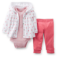 Carter's 3-12 Months 3-Piece Layette Set - Pink