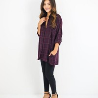 Star Shine Plaid Top
