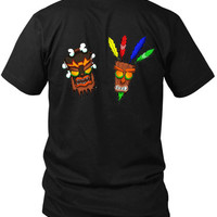Crash Bandicoot Uka Uka Et Aku Aku 2 Sided Black Mens T Shirt