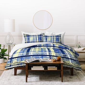 Amy Smith blue and yellow obsession Duvet Cover