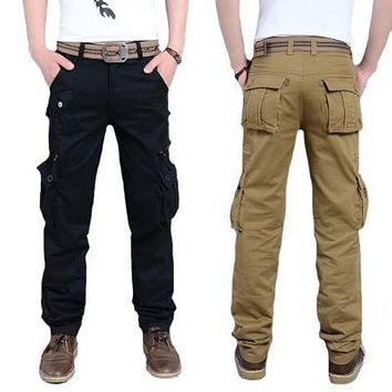 US Military Tactical Cargo Pants Mens Army Jeans Clothes Trousers Casual Breathable Cotton Baggy Camouflage Pants Plus Size