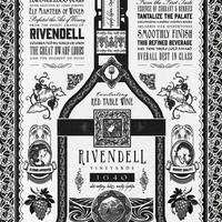 Lord of the Rings Rivendell Vineyards Vintage Ad Art Print by Barrett Biggers