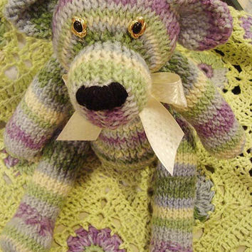 Made to Order Baby Blanket and Teddy Bear by jennymillerartistry