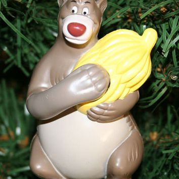 Licensed cool DISNEY Jungle Book BALOO BEAR Bananas Christmas Holiday Ornament OPENS hold gift