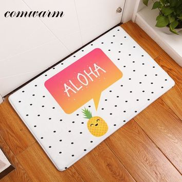 Autumn Fall welcome door mat doormat Comwarm in Front of s Flannel Cute Cartoon Aloha Pineapple Carpets Light Thin Waterproof Kitchen Rugs Mats Home Decor AT_76_7