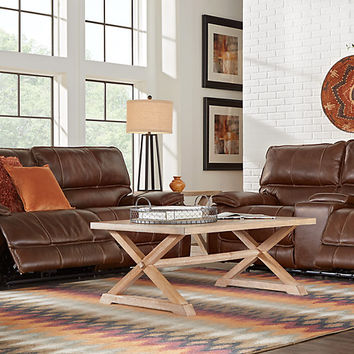 Cindy Crawford Home Salina Brown 5 Pc Power Reclining Living Room - Reclining Living Rooms (Brown)
