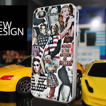 iPhone 4/4S case, iPhone 5/5S/5C case, Samsung Galaxy S3/S4, iPad, iPod cover lana del rey collage art