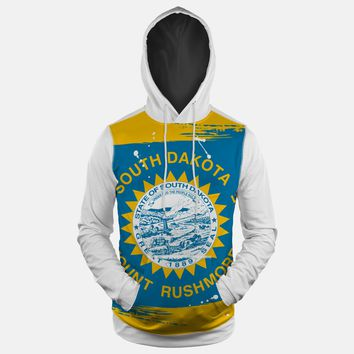 South Dakota State Flag Hoodie (Ships in 2 Weeks)