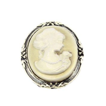 Cool Women's Fashion Style Queen Head Portrait Brooch Vintage Cameo Elegant Brooch For Antique Wedding JewelryAT_93_12