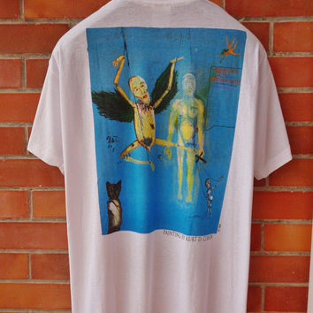 Rare Original Kurt Cobain Painting NIRVANA t-shirt mint deadstock