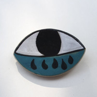 Rainy Eye-  Ceramic Brooch
