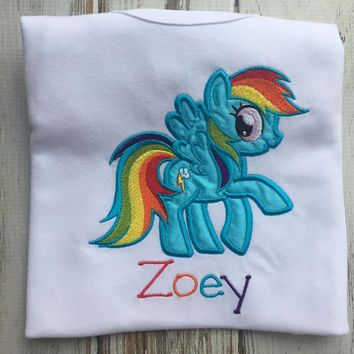 Rainbow Dash My Little Pony Shirt or Onesuit