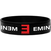 Eminem Men's Logo Rubber Bracelet Black