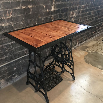 Antique Custom-Made Sewing Table