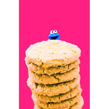 cookie monster print aceo size ME MUST Be DREAMING