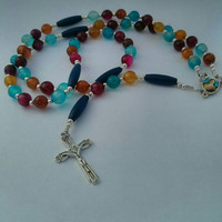 Rosary, Catholic Rosary, 5 Decade Rosary, Rosary Gift, Prayer Beads, Gift for Her, Gift for Him