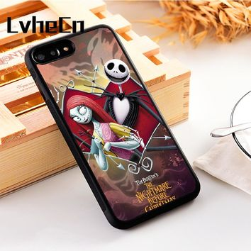 LvheCn 5 5S SE phone cover cases for iphone 6 6S 7 8 Plus X Xs Max XR TPU Touchstone Pictures The Nightmare Before Christmas