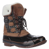 Khombu Julliard Fleece-Lined Snow Boots - Tan/Black