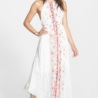 'Caught in the Moment' Print Cutout Maxi Dress