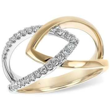 "Ben Garelick ""Apex"" Two-Tone Gold Diamond Ring"