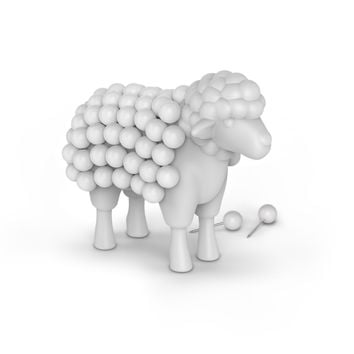 STUCK ON EWE Sheep Push Pin Holder