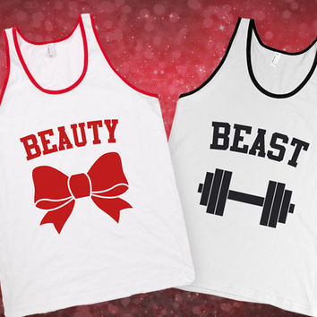 6d969cb47858f Shop Beauty And Beast Workout Tanks on Wanelo