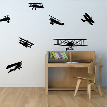 Nursery wall decals - Airplanes