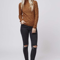 Ribbed Roll Neck Sweater - Topshop