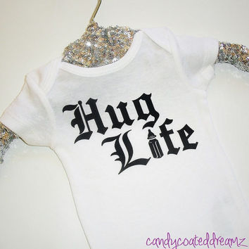 Hug Life Onesuit t-shirt boys girls trendy cute bodysuit matching babyswag fly custom trendy fashion
