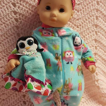 """15 inch baby doll or any size lovey blankie blanket """"Rudy the Reindeer"""" security blanket toy Q12"""