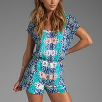 DV by Dolce Vita Tommy Beach Bali Romper in Blue Multi from REVOLVEclothing.com