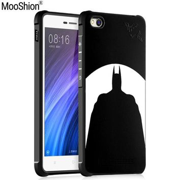 Batman Dark Knight gift Christmas Luxury Brand phone case For Xiaomi mi4c silicone Protective Batman cat bear Skull pattern for xiaomi redmi 4a back cover shell AT_71_6