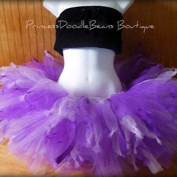 Knotty Girl - Custom SEWN and Super Full Tutu skirt -  Pick your colors and length - For parties, gift, bachelorette, costume