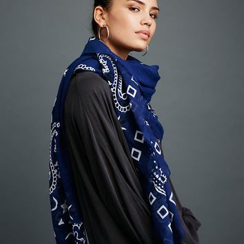 Free People Tried and True Bandana Print Scarf