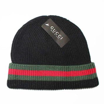 Gucci Women Men Winter Knit Hat Cap Scarf Set Two-Piece-19