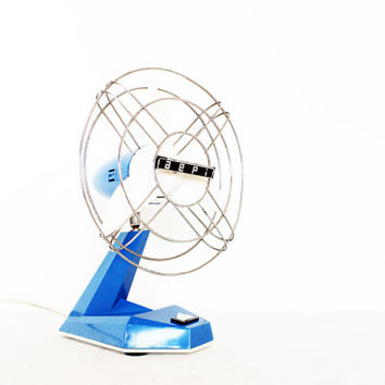 Vintage  table desk fan retro mid century monaco by AnnaLouVintage