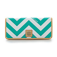 Dooney & Bourke Chevron Print Slim Wallet