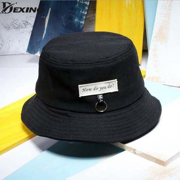 Men Panama unisex fashion Bucket Hat Bob Caps Hip Hop Gorro Summer Sun Cap sad boys Beach BTS Bucket Hat