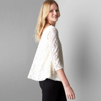 AEO Lace Swing T-Shirt, Natural | American Eagle Outfitters