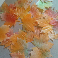 Wafer Paper  Autumn Maple Leaves