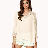 Embroidered Lace Georgette Blouse