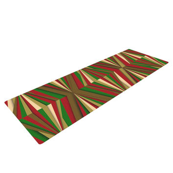 "Danny Ivan ""Christmas Pattern"" Red Green Yoga Mat"