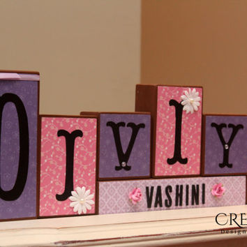 Personalized Name (6 Letters) Wood Blocks
