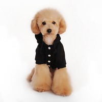 Puppy Small Dog Cat Pet Clothes Elastic strap Sweater Gentleman Shirt Apparel